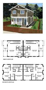4 Bedroom Tiny House by 26 Best Duplex U0026 Multiplex Plans Images On Pinterest Apartment