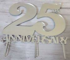 25th anniversary cake toppers 25th anniversary cake topper ebay