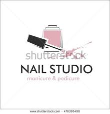 nail art studio template logo stock vector 614622176 shutterstock