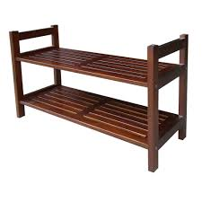 Home Decorators Storage Bench Home Decorators Collection 2 Tier 15 1 2 In W Mahogany Stackable