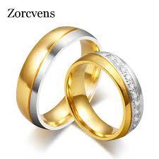aliexpress buy vnox 2016 new wedding rings for women zorcvens new fashion gold color 316l stainless steel