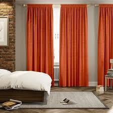 Orange And Brown Curtains Orange Curtains 2go Plain Striped And Patterned Bright Orange