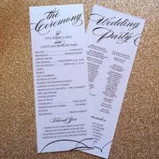Elegant Wedding Program Mr U0026 Mrs Printable Wedding Order Of Service Program Template