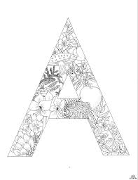 5 best images of printable letter coloring pages design floral