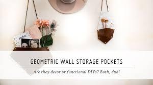 diy geometric wall storage pockets home decor u0026 organization