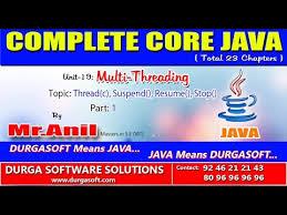 suspend and resume core java multi threading thread c suspend resume stop part 1