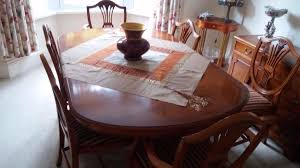Yew Dining Room Furniture Reduced Price Beautiful Solid Wood Yew Dining Table And 6 Chairs