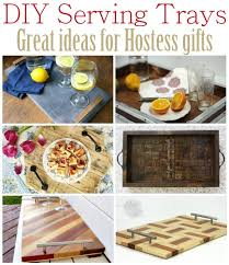 unique serving platters diy serving tray great ideas for hostess gifts sawdust girl