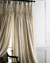 Smocked Burlap Curtains Savings On Smocked Drapes