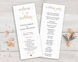 program for wedding ceremony template wedding program template etsy