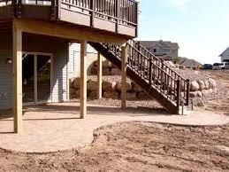 Backyard Deck And Patio Ideas by Best 20 Walkout Basement Patio Ideas On Pinterest U2014no Signup