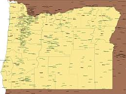 map of oregon us editable royalty free map of oregon or in vector graphic