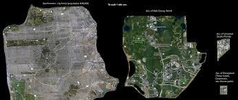 Map Size Comparison Disney World Vs Disneyland Physical Size Comparison The Dis
