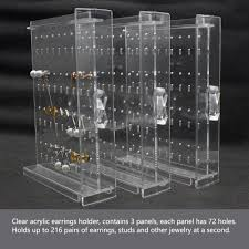 earring stud holder hqdeal new acrylic earring display stand organiser