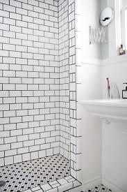 appealing white subway tile backsplash grout color images design