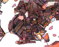 Map Of Brooklyn Ny Neighborhood U2013 Modern City Map Print Of Brooklyn Ny Neighborhood