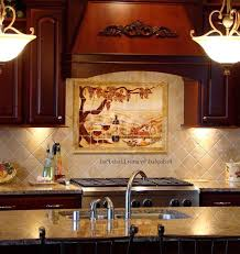 kitchen mural backsplash made the vineyard kitchen backsplash tile mural paul