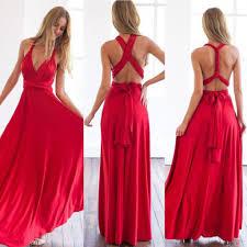 maxi kjoler rød lang maxi kjole med bindestropper femalelux