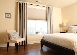 Curtains On Windows With Blinds Inspiration Pretty Inspiration Ideas Bedroom Window Curtains Treatments Budget