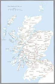 Map Of Scotland And England by The Map Of Scotland Shows The Locations Of The Clans And The Land