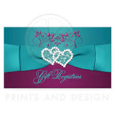 wedding gift registry wedding gift registry enclosure card printed ribbon jewels