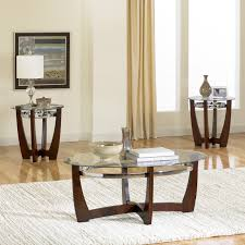 Living Room Glass Tables by Signature Design By Ashley Kaymine 3 Piece Coffee Table Set