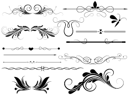 divider page decoration vectors designs brushes shapes png