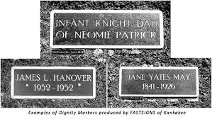 memorial markers dignity memorial markers fastsigns of kankakee il