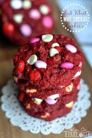 red velvet white chocolate cookies mom on timeout