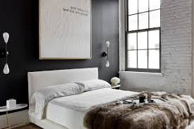 Dark Blue Accent Wall by Bedroom Navy Blue Wall Accent With Wheat Color Base Combination