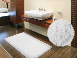 bathroom creative wooden bath mats with teak unstained railing