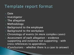 investigation report template disciplinary hearing tpp hr seminar disciplinary investigations hearing