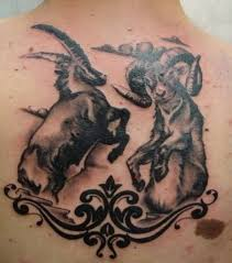 upper back fighting aries tattoo design for cool men u2013 truetattoos