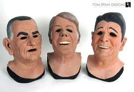 The Ex Point Break Presidents Masks Display Busts Tom Spina Designs