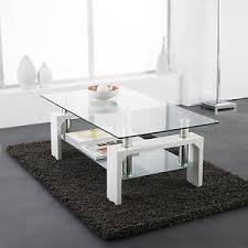 glass coffee table with glass shelf white modern rectangle glass chrome living room coffee table with