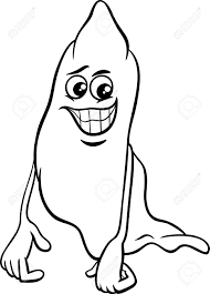 black and white cartoon illustration of funny ghost halloween