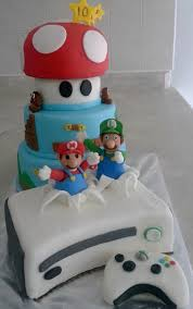 super mario bros and xbox 360 cake cakecentral com