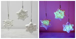glow in the clay snowflake ornaments in the madhouse