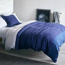 Linen Colored Bedding - linen color block duvet cover unison