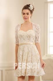 robe de mariã e avec dentelle robe courte habillée pour mariage avec manches dentelle persun fr