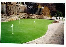 backyards enchanting backyard golf greens backyard golf greens