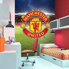 Manchester United Bed Linen - manchester united fc wallpaper wall mural new man utd official