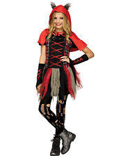 edgy little red riding hood girls punk gothic halloween costume