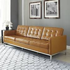 leather sofa shop modway loft leather sofa at lowes