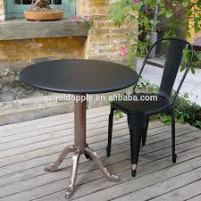 Outdoor Table And Chair Outdoor Industrial Metal Cafe Table And Chair Garden Tea Table Set