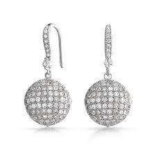 cubic zirconia drop earrings jewelry large disco cubic zirconia drop earrings