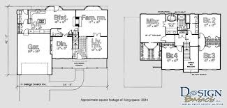 4 bedroom floor plans 2 2200 2700 sq ft harvest homes