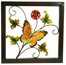 beautiful butterfly and flower outdoor wall decor plaques ideas
