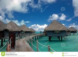 overwater bungalows tahiti royalty free stock image image 2915716