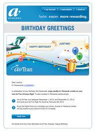 birthday email deals steals encouraging recipients to shop